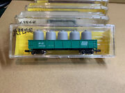N Scale Atlas 3509, 42' Gondola With Canisters. Penn Central, Pc 606550 T1