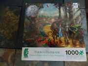 Kinkade Wizard Of Oz Follow The Yellow Brick Road 1000 Pc Puzzle 100 Complete