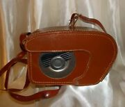 Vintage Kodak Brownie 8mm Movie Camera Ii And Leather Case Sold As-is Used Soiled
