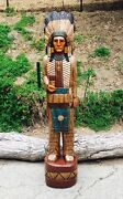 John Gallagher Carved Wooden Cigar Store Indian 4 Ft. Story Board