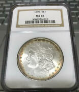 Rqn-1898 1 Morgan Ngc Ms 65 Gold Halo Several In The Next Few Days