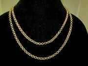 Stunning Unisex Extra Long 10k Yellow Gold Chain Link Long 41 Necklace 54.8g