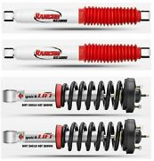 Rancho Quicklift Front Struts Rear Rs5000x Shock Absorbers For Ford F-150 4wd