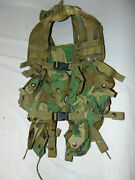 Us Army Issue Tactical Load Bearing Vest Enhanced With Pouches Woodland 6