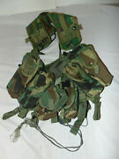 Us Army Issue Tactical Load Bearing Vest Enhanced With Pouches Woodland 7