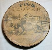 Rare Antique 1880s Pigs In Clover Circular Marble Game Wood And Paper Construction