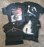 Roger Waters Pink Floyd Lot Of 4 Shirts 2006 And 2012 Tour The Wall,dark Side Moon