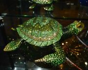 Turtle By Rucinni Trinket Box Crystallized With Medium Size 8 Long