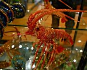 Lobster By Rucinni Trinket Box Crystallized With Medium Size 10 Long