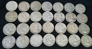 Silver 90 Half Dollars Franklin 10 Troy Oz Bullion 28 Coins Survival Money