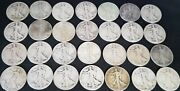 Silver 90 Half Dollars Walking Liberty 10 Troy Oz 28 Coins Hyperinflation Money