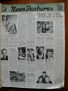 Nbc News Features - 1944 Wartime 42 Glossy Bound Pages 21 X 16 Very Rare
