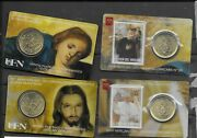 Vatican 2019 50th Ann. Priestly Ordination Pope Francis Stampandcoin Cards 31-32