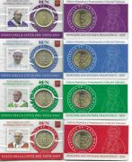 Vatican 2019 Pontificate His Holiness Pope Francis Stampandcoin Cards Set 22-25