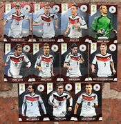 Germany Team World Cup 2014 Rare Panini Prizm Soccer Cards 11 Cards
