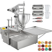 Vevor Commercial Automatic Donut Fryer Ball Doughnuts Maker Machine With 3 Mold