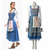 Disney Beauty And The Beast Belle Blue Costume Cosplay Emma Watson Live Action