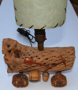 1950s Cholla Wood Contastoga Wagon Lamp Ideal For Childs Room Ships Free