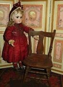 Sale Charming Smaller Scale Antique Miniature Carved Wooden Doll Chair