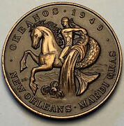 1949-1977 New Orleans Mardi Gras Doubloon Okeanos Man's Culture And Customs Mr