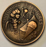 1932-1974 New Orleans Mardi Gras Doubloon Alla Childhood Adventures Coin Mr