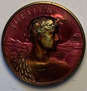 Jupiter And Juno Mardi Gras Doubloon Stunning Color Toned Coin Choice Gem Mr