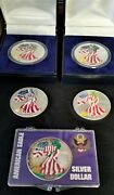 5 Colorized American Eagle 1 Oz Silver 5 Coins 1999 2000 Bu Great Gifts