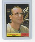 1961 Topps Faye Throneberry 282 Los Angeles Angels Vintage Exmt