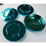 New 4x Cup 106 Mm Wheel Center Caps Cover Hub Blue For Volk Rays