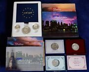 Lot Of Mint Uncirculated Sets And Silver/clad Commemorative Coins - Free Ship Us
