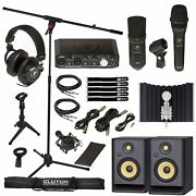 Mackie Producer Home Audio Recording Interface Bundle W Rp5 G4 Monitor Speakers