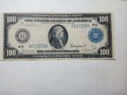 1914 100 Blue Seal Frn D517206a Burke And Houston Choice +