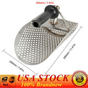 New Fast Sifting Shovel Beach Sand Scoop Metal Detecting Tool Stainless + Handle