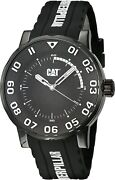 Cat Watches Men's Bold Ii Stainless Steel Analog-quartz Watch With Silicone Stra