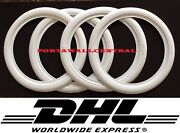 Hot Rod 20 New Rubber White Wall Tire Trims Port-a-wall.set Of4.
