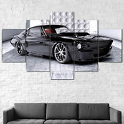 1967 Ford Mustang Nightmare Canvas Print Framed 5pcs Panel Wall Art Poster Decor