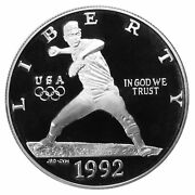 1992 S Olympic Baseball Proof Commemorative 90 Silver Dollar Us Coin