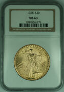 1928 Gaudens 20 Double Eagle Gold Coin Ngc Ms-63 A