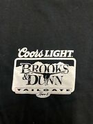 Vintage Country T Shirt - Coors Light Brooks And Dunn Size Xl Black Concert Tour