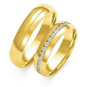 1 Pair Wedding Rings Gold 333 Or 585 - Polished With