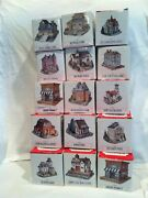 Vintage 1992 The Americana Collection Liberty Falls Lot Of 15 Houses Buildings