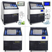 Commercial Ice Maker Ice Cube Maker 120-200kg Ice Cream Maker Sus 77lbs Storage