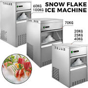 Vevor Snowflake Ice Maker Machine Stainless Steel Commercial Ice Maker Freestand