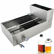 2'x4' Divided Flow Maple Syrup Pan W/ Tank Sap Evaporator Stainless Steel 18ga