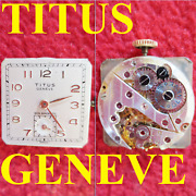 Movimento Titus Geneve Cal. Eta 980 Movement Manual Watch For Parts Not Working