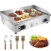 30'' Electric Countertop Griddle 3kw Flat Grill Stainless Steel Bbq Grill