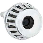 Rinehart Chrome Moto Series Inverted Air Cleaner For Fly-by-wire - 910-0101c