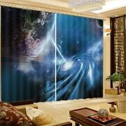 Rotating Pointed Planet 3d Curtain Blockout Photo Printing Curtains Drape Fabric