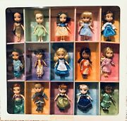 Disney Store Animators Collection 5 Mini Doll Gift Set Of 15-new In Display Box