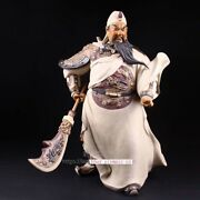 24and039and039 China Porcelain Ceramic Art Pottery Home Fengshui Dragon Guan Gong Statue
